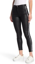 Tractr Mid Rise Skinny Faux Leather Jeans