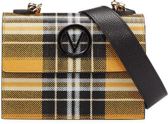 Mario Valentino Valentino By Etienne Plaid-Printed Leather Shoulder Bag