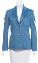 Celine Cashmere Button-Up Blazer