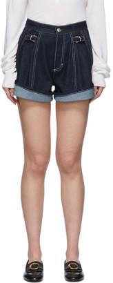 Chloé Indigo Recycled Denim Cuffed Shorts
