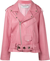 Marques Almeida Marques'almeida - oversize biker jacket - women - Calf Leather/Viscose - S