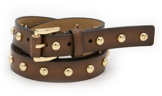 Michael Kors Studded Leather Belt
