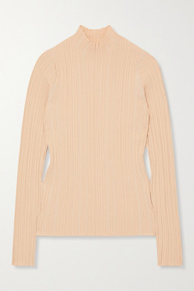 Acne Studios Ribbed Cotton-blend Top - Beige