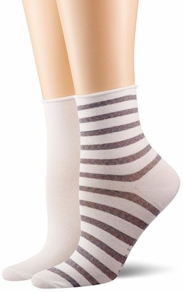 Esprit Women's Luminous Stripe Ankle Socks