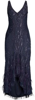 Parker Black Embellished Sequin Sydney Midi Dress