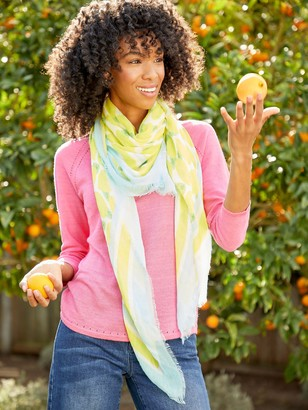 J.Mclaughlin Giselle Scarf in Lemon Squeeze