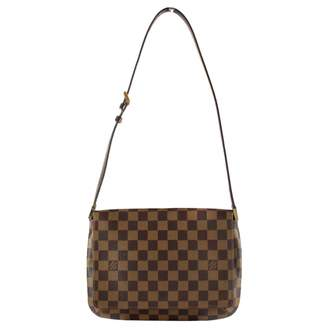 Louis Vuitton Musette Tango Brown Cloth Handbag