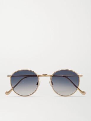 MOSCOT Zev Round-Frame Gold-Tone Titanium Sunglasses