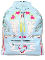 Manish Arora Faux Leather Appliqués Backpack