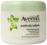 Aveeno Active Naturals Positively Radiant Cleansing Pads, 28 Count (Pack of 3)