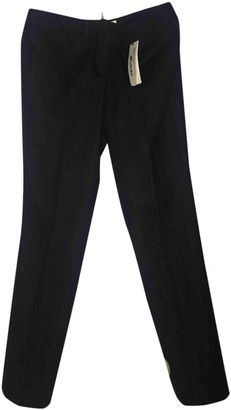 BA&SH Spring Summer 2019 Anthracite Wool Trousers for Women