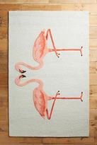 Anthropologie Pink Flamingos Rug