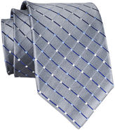 JCPenney Stafford Dotted Grid Silk Tie