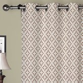"""Michele Home Fashion 35 Sizes Available Blackout Curtains Coffee Lining (Set of 2 panels) (100""""W x 120""""L) Rod Print Multi Color Modern Luxurious Velvet Window Treatment Draperies & Curtains Panels"""