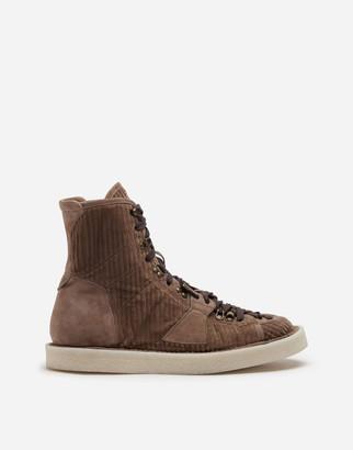 Dolce & Gabbana Corduroy Modigliani Ankle Boots