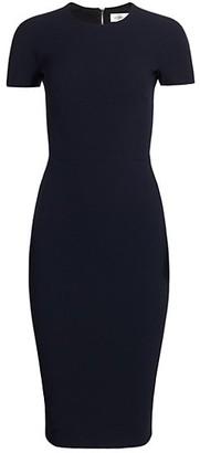 Victoria Beckham Fitted Crepe T-Shirt Dress