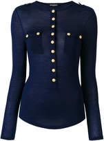 Balmain button-embellished top