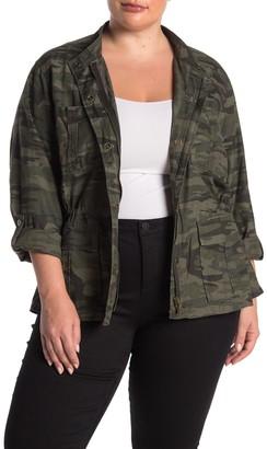 Sanctuary Camo Printed Military Jacket (Plus Size)