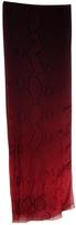 Jimmy Choo Red Silk Scarf