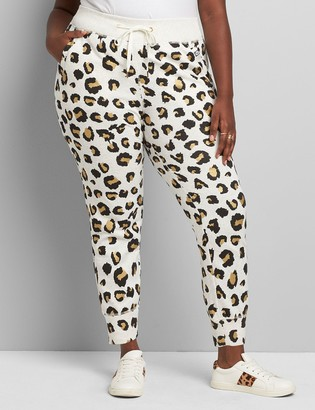 Lane Bryant LIVI Metro Jogger Pant - Metallic Animal Print French Terry