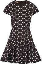 Michael Kors Polka-Dot Cotton And Silk-Blend Matelassé Mini Dress