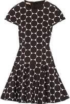 Michael Kors Polka-Dot Cotton And Silk-Blend Matelassé Mini Dress