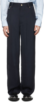 Eytys Navy Satin Titan Trousers