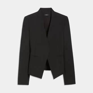 Theory Stretch Wool Open Blazer