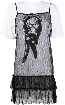 McQ Swallow layered T-shirt sheer dress