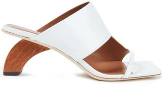 REJINA PYO Leah 60 Cutout Patent-leather Sandals