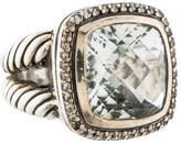 David Yurman Albion Prasiolite & Diamond Ring