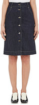 Tomas Maier Women's Denim Button-Front Skirt-NAVY