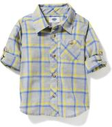 Old Navy Windowpane-Plaid Poplin Shirt for Toddler