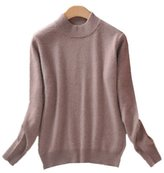 WHENOW Women's Slim Classic Wool Crew Neck Knit Jumper Pullover Sweater M