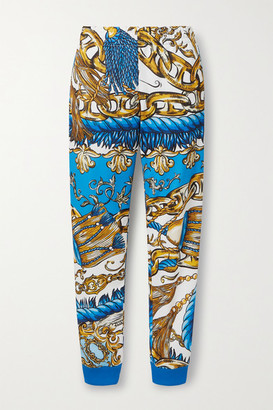 Moschino Printed Tech-jersey Track Pants - Blue
