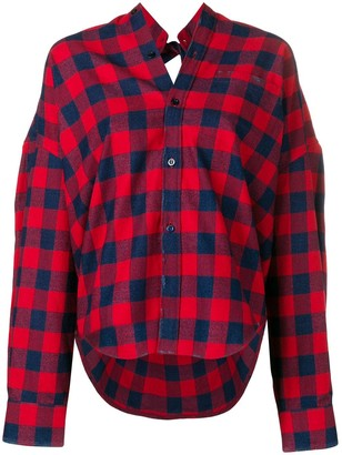 Balenciaga Swing check shirt