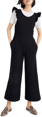 Madewell Ruffle Strap Open Back Jumpsuit