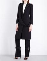 Alexander McQueen Slash-lapel wool and silk-blend coat