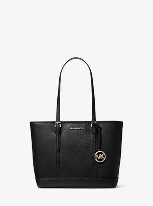 MICHAEL Michael Kors Jet Set Travel Small Saffiano Leather Top-Zip Tote Bag