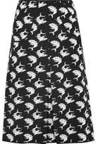 Duro Olowu Pleated Intarsia Wool Skirt