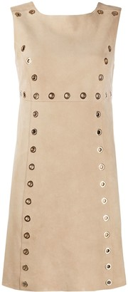 Alberta Ferretti Eyelet Embellished Shift Dress