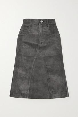 Etoile Isabel Marant Fiali Leather Skirt - Black