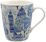 Cath Kidston London Toile Stanley Mug, Blue/Multi, 475ml
