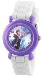 EWatchFactory Disney Frozen 2 Elsa, Anna Girl's Purple Plastic Time Teacher Watch 32mm