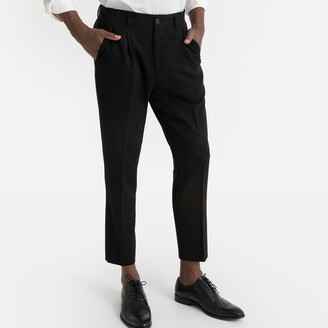 """La Redoute Collections Pleat Front Trousers, Length 28"""""""