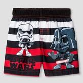 Star Wars Toddler Boys' Darth Vader Stripe Swim Trunk - Black