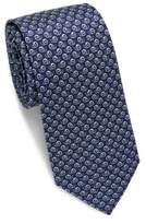 Salvatore Ferragamo Snail Print Silk Tie