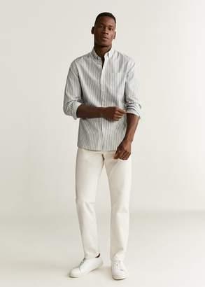 MANGO Slim fit striped pocket shirt