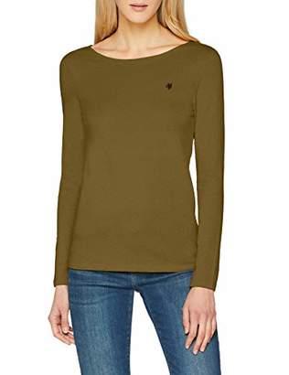 Marc O'Polo Women's 809218352487 Longsleeve T-Shirt, (Green Grove 471)
