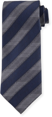 Brioni Printed Stripe Silk Tie